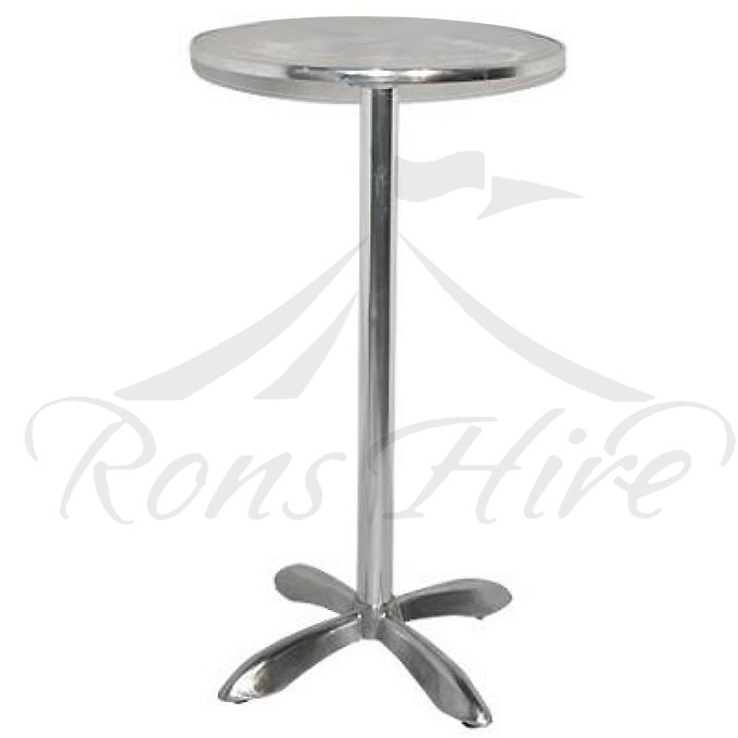 Table - Stainless Steel Diablo Round Cocktail Table