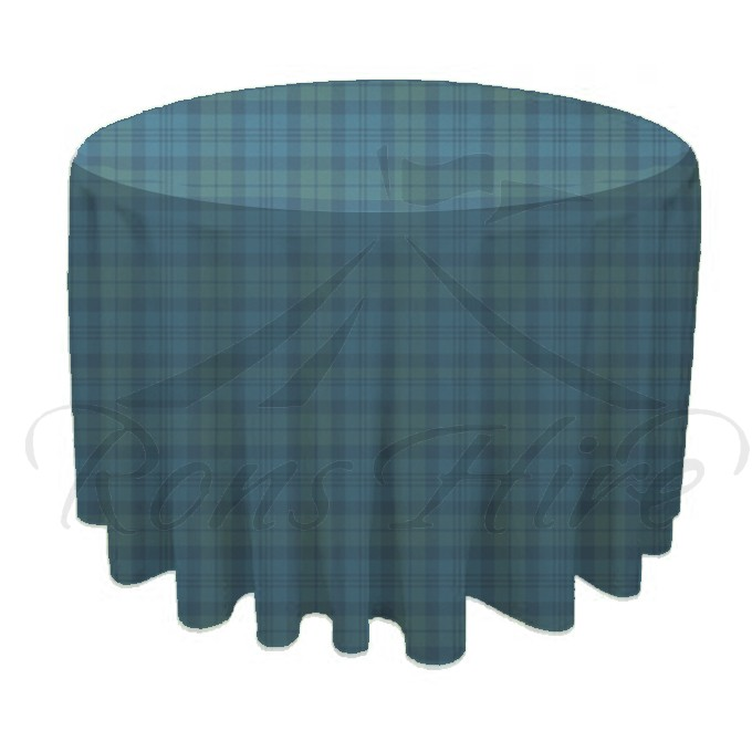 Tablecloth - Tartan Linen 3m Round Tablecloth
