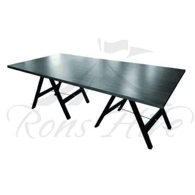 Table - Wallnut Wooden Inanda 2.4m x 1.2m Rectangular Table