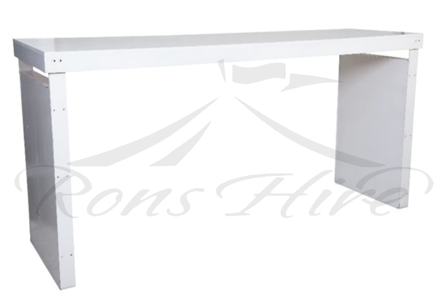 Cocktail Counter - White 2.4m Rectangular Cocktail Counter