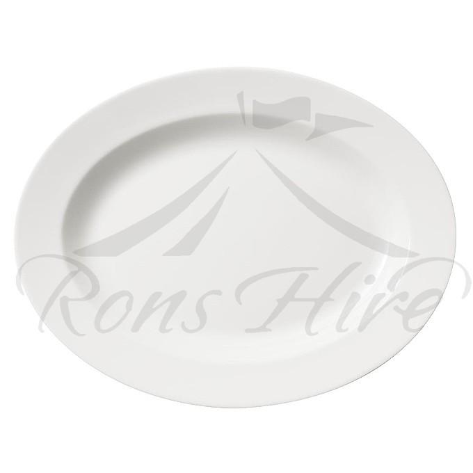 Platter - White 35cm Oval Platter