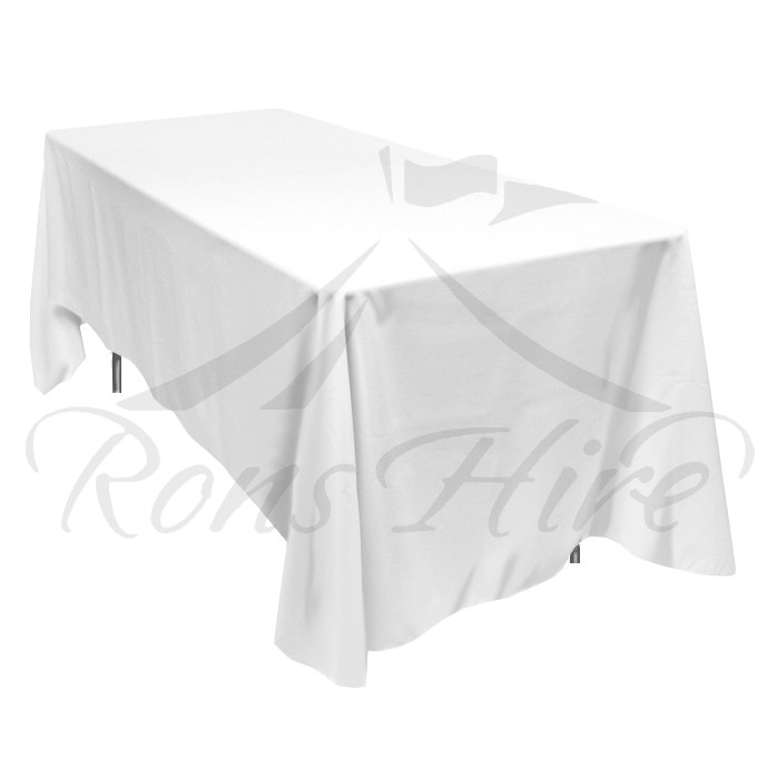 Tablecloth - White Linen 1.35m x 2.30m Rectangular Tablecloth