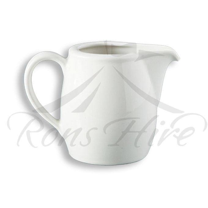 Jug - White Ceramic Continental China Blanco 250ml SH500 Milk Jug