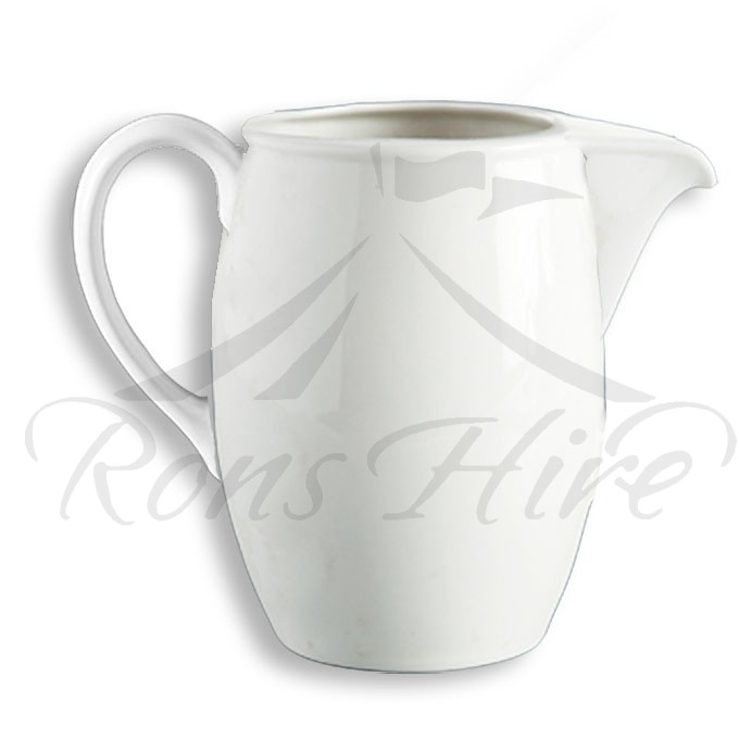 Jug - White Ceramic Continental China Blanco 50ml SH500 Milk Jug