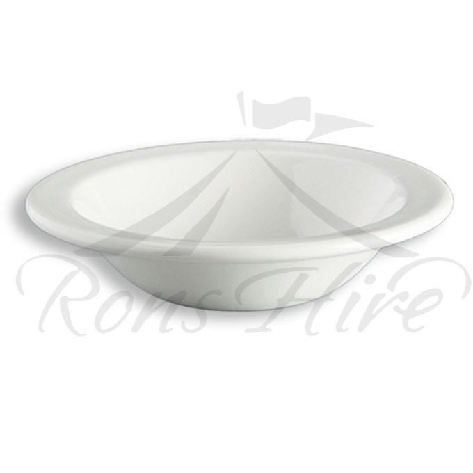 Bowl - White Ceramic Continental China Blanco SH500 Dessert Bowl