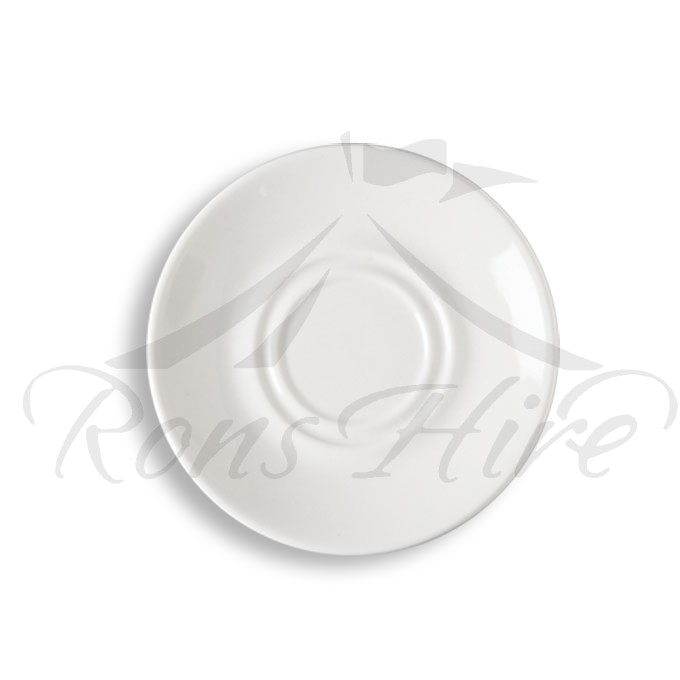 Saucer - White Ceramic Continental China Blanco SH500 Saucer