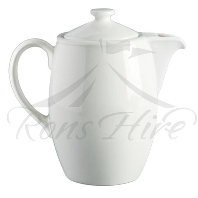 Pot - White Ceramic Continental China Blanco Small SH500 Coffee Pot