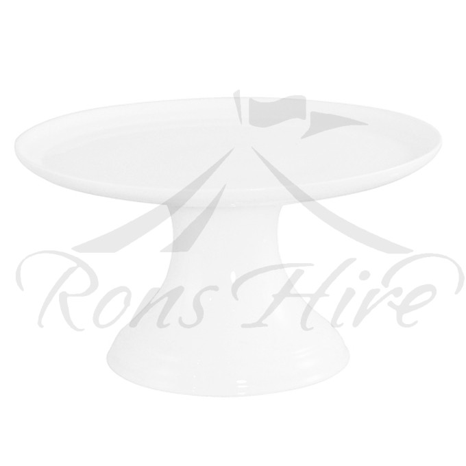 Stand - White Ceramic Elevated Medium Round Cake Stand