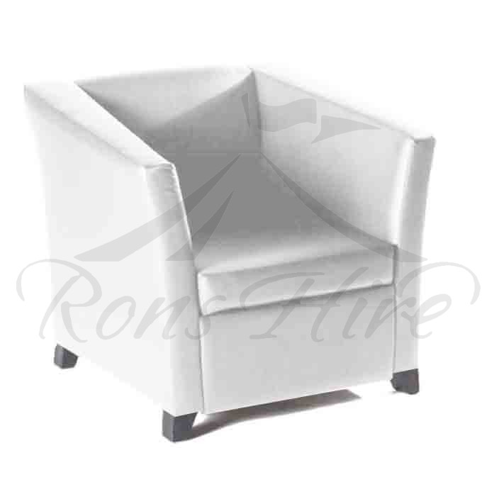 Chair - White Club Chair