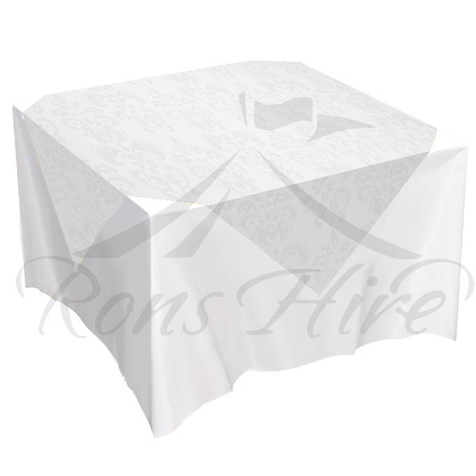 Overlay - White Damask 1.35m x 1.35m Overlay