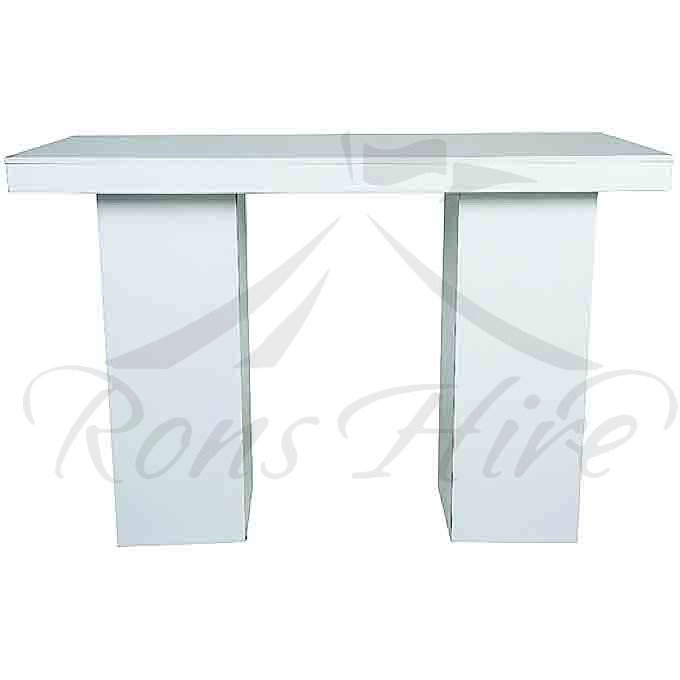 Cocktail Counter - White 1.8m Rectangular Cocktail Counter