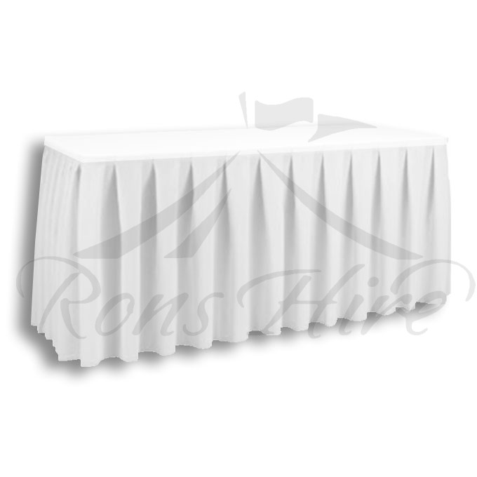 Skirting - White Linen 2.95m x 0.690m Skirting