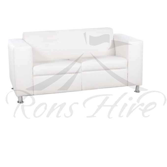 Lounger - White Morgan Double Lounger
