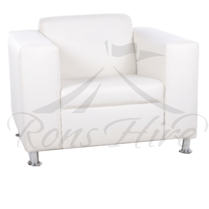 Lounger - White Morgan Single Lounger