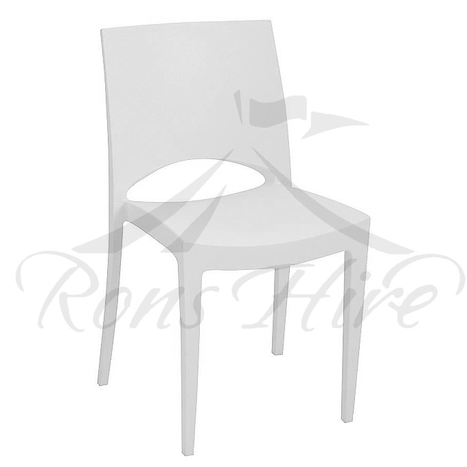 Chair - White Plastic Star Chair
