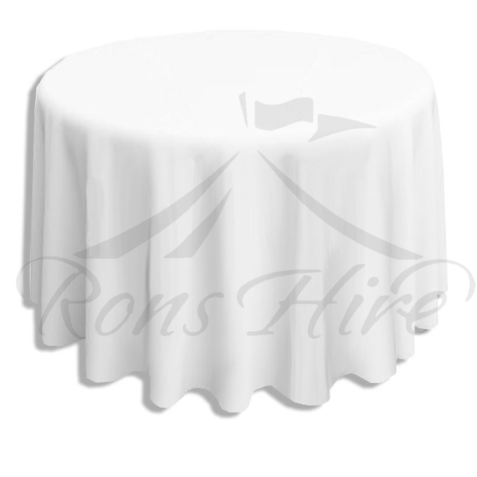 Tablecloth - White Scroll 3.2m Round Tablecloth