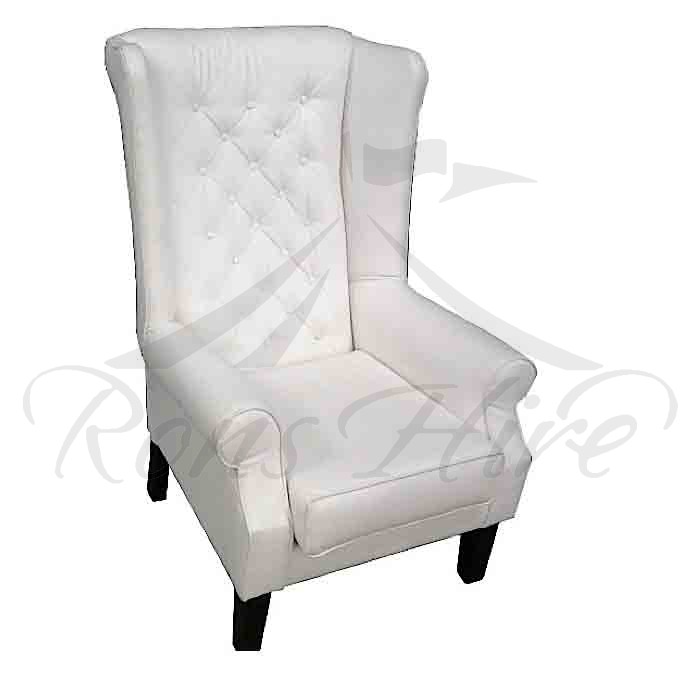Chair - White Wingback Chair
