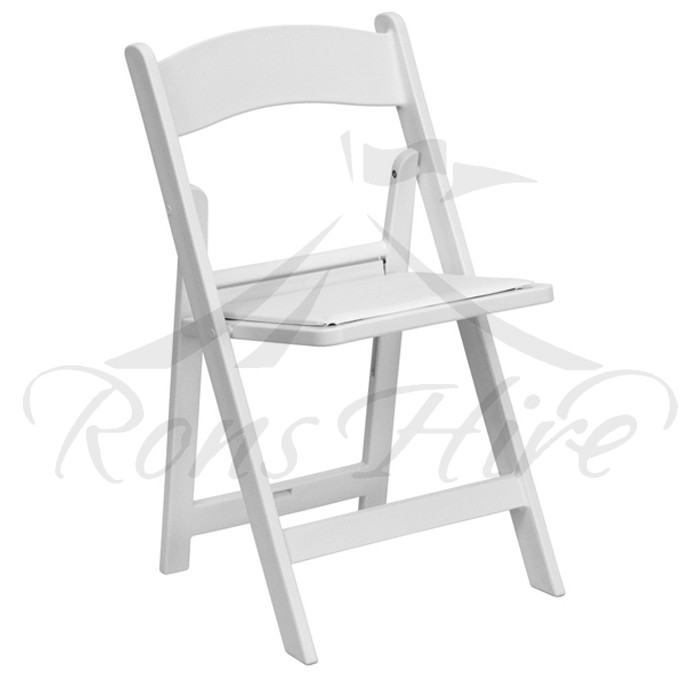 Chair - White Wooden Wimbledon Padded Chair