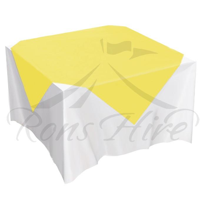 Overlay - Yellow Satin 1.5m x 1.5m Square Overlay