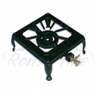 Cooker - Black Cast Iron Gas 2 Ring Rectangular Cooker