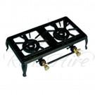 Cooker - Black Cast Iron Gas 3 Ring Rectangular Cooker