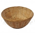 Basket - Brown Bamboo Woven Large Round Bread Basket
