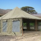 Khaki Safari Peg & Pole Tent