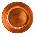 Underplate - Orange Plastic Round Underplate