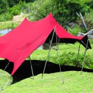 Red Bedouin Stretch Tent - 7.5x10m