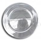 Underplate - Silver Plastic Round Underplate