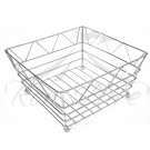 Basket - Stainless Steel Small Square Bread Basket